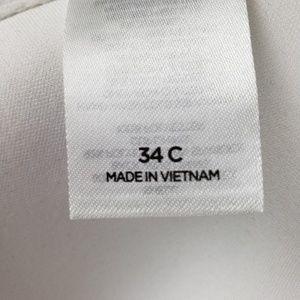 Shade & Shore Swim - NWOT Bikini Top Size 34C Black And White